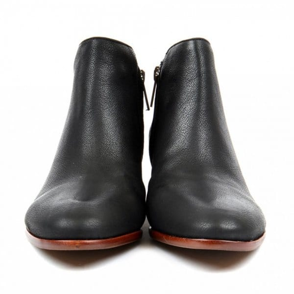 sam edelman petty black leather ankle boot