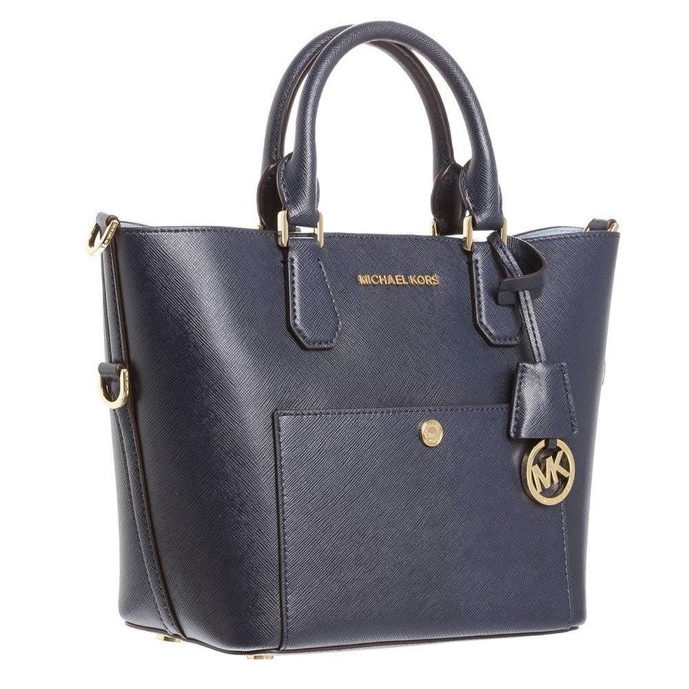 michael by michael kors greenwich navy large tote. Black Bedroom Furniture Sets. Home Design Ideas