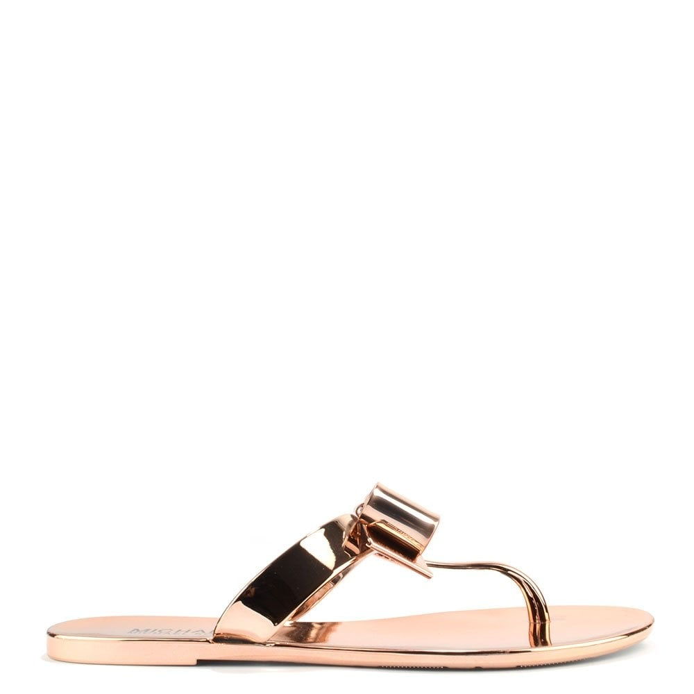 Michael By Michael Kors Kayden Rose Gold Thong Sandal