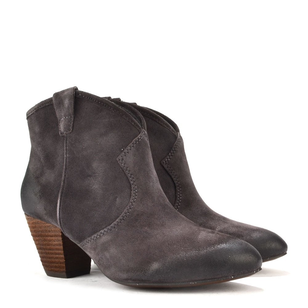 ash footwear jalouse wood ash brown suede ankle boot