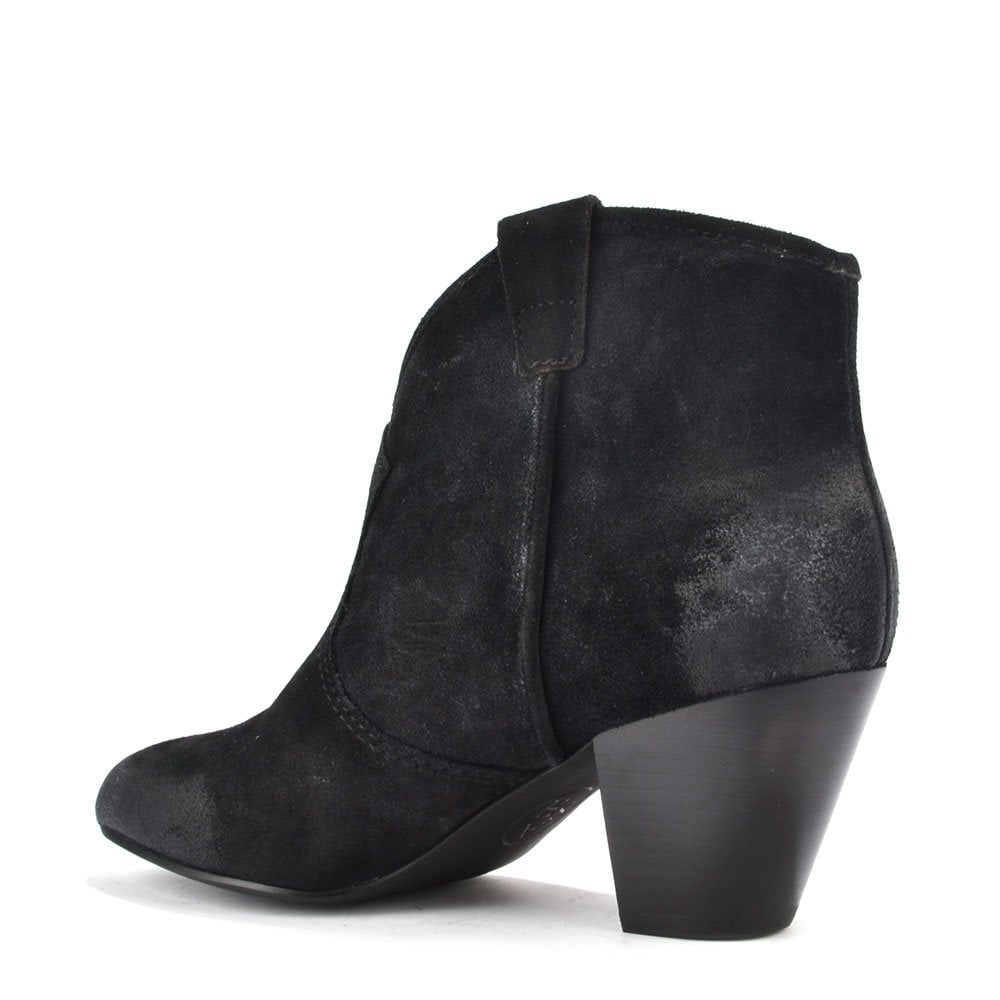 ash footwear jalouse black suede ankle boot buy now