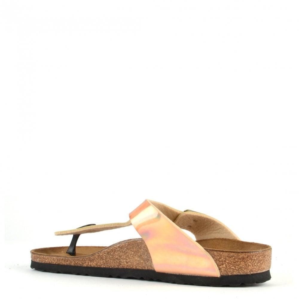 gizeh mirror rose gold thong sandal at brand boudoir. Black Bedroom Furniture Sets. Home Design Ideas