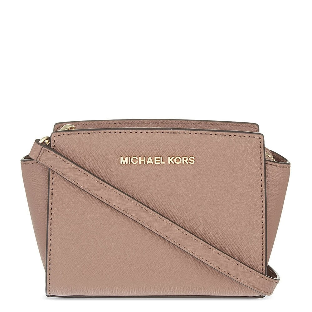 michael michael kors selma mini dusty rose messenger bag. Black Bedroom Furniture Sets. Home Design Ideas