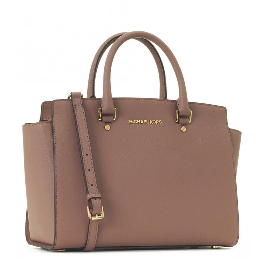 michael michael kors selma dusty rose medium satchel michael michael kors from brand boudoir uk. Black Bedroom Furniture Sets. Home Design Ideas