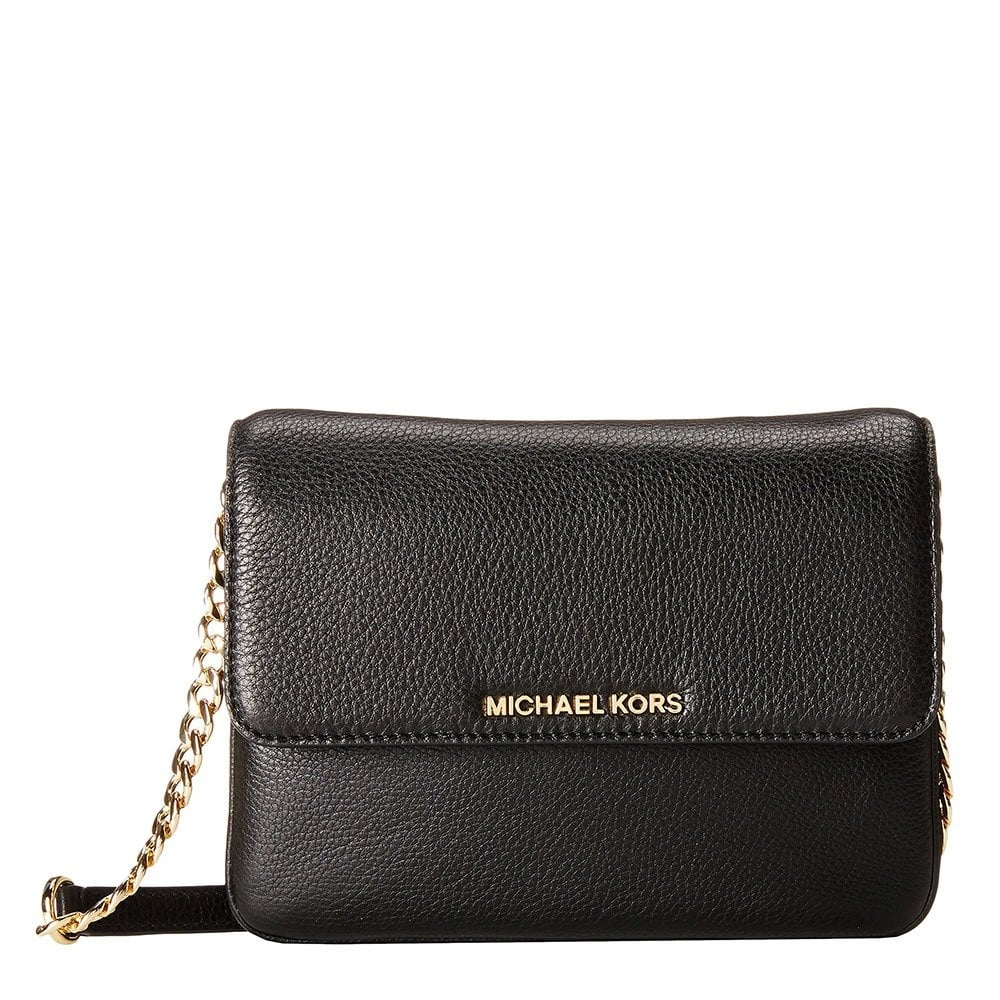 026e928d5a564d Michael Kors Bedford Black Double Gusset Crossbody Bag | Stanford ...
