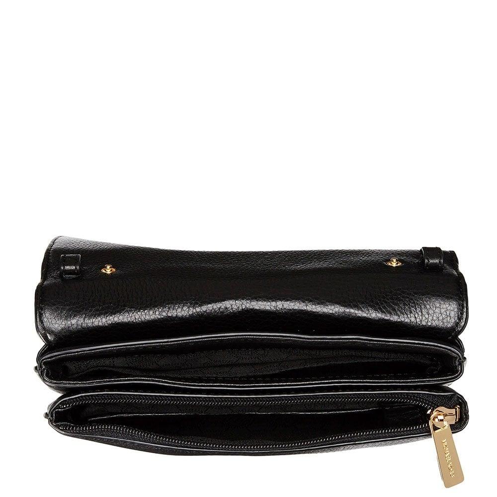 20ac037195ba Michael Kors Bedford Black Double Gusset Crossbody Bag   Stanford ...
