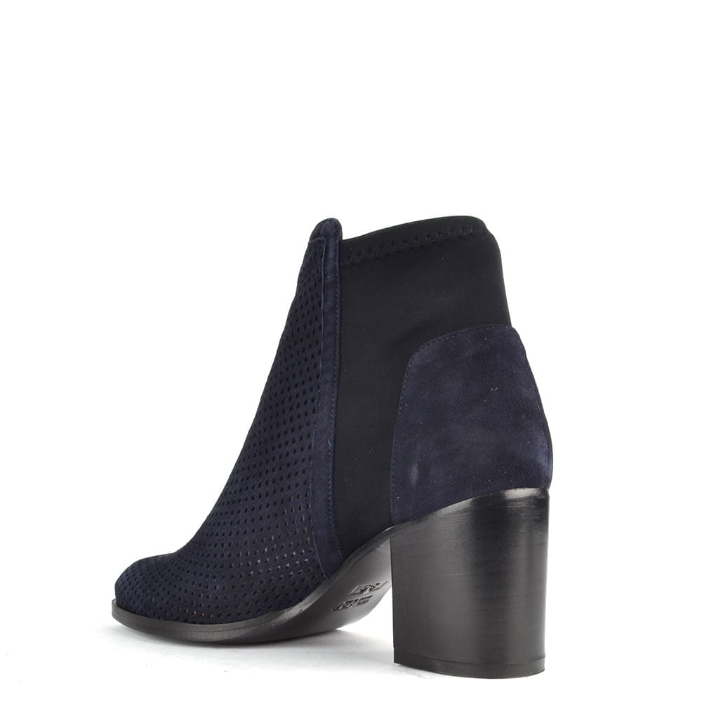 elia b easy city blue suede ankle boot