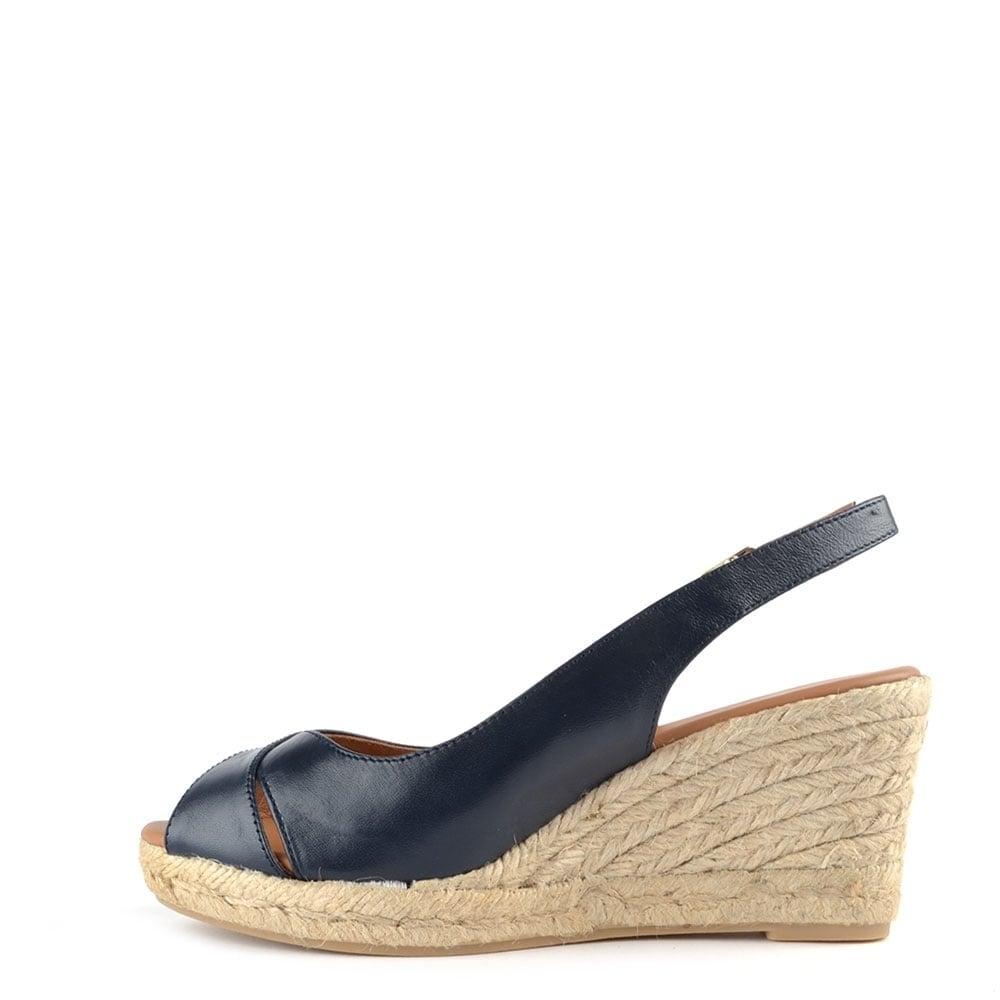 elia b lungo navy wedge sandal