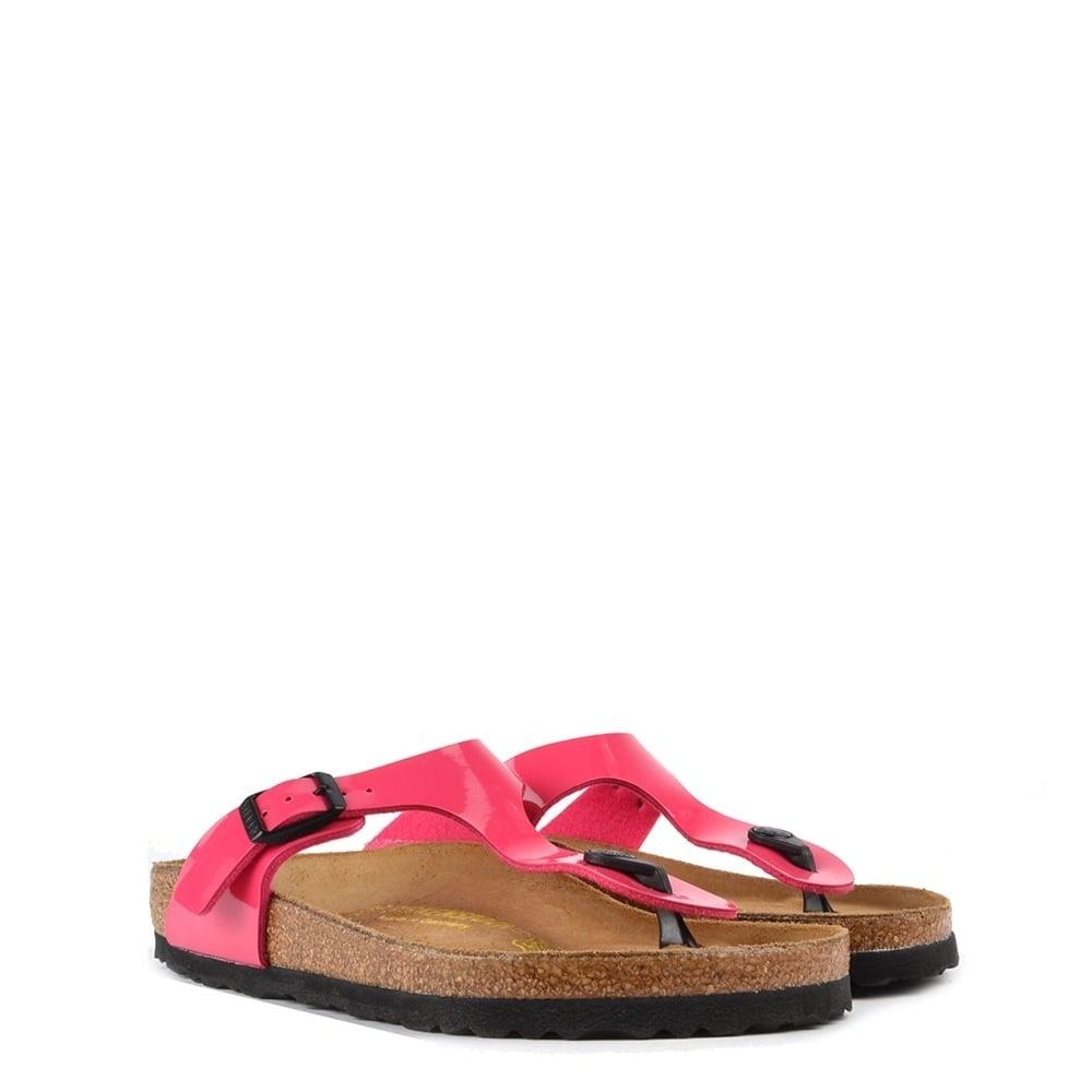 birkenstock gizeh pink patent thong sandal. Black Bedroom Furniture Sets. Home Design Ideas