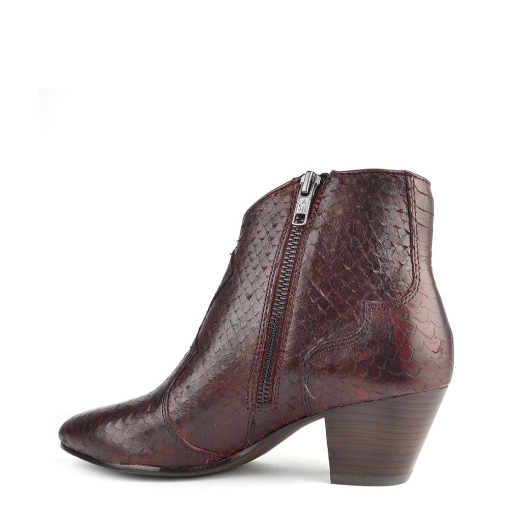 ash hurrican bordeaux python ankle boot. Black Bedroom Furniture Sets. Home Design Ideas