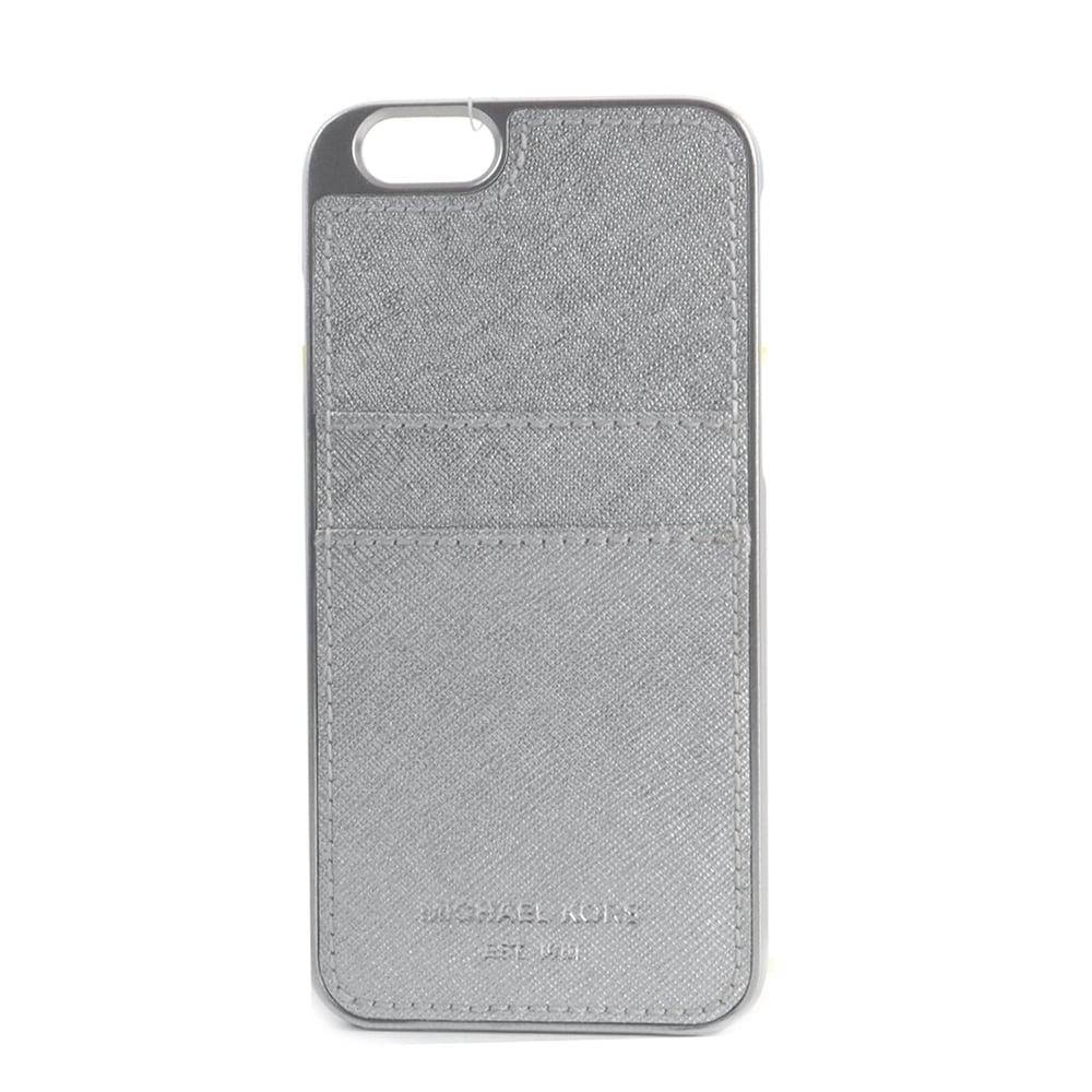 michael kors michael by michael kors silver saffiano iphone 6 case. Black Bedroom Furniture Sets. Home Design Ideas