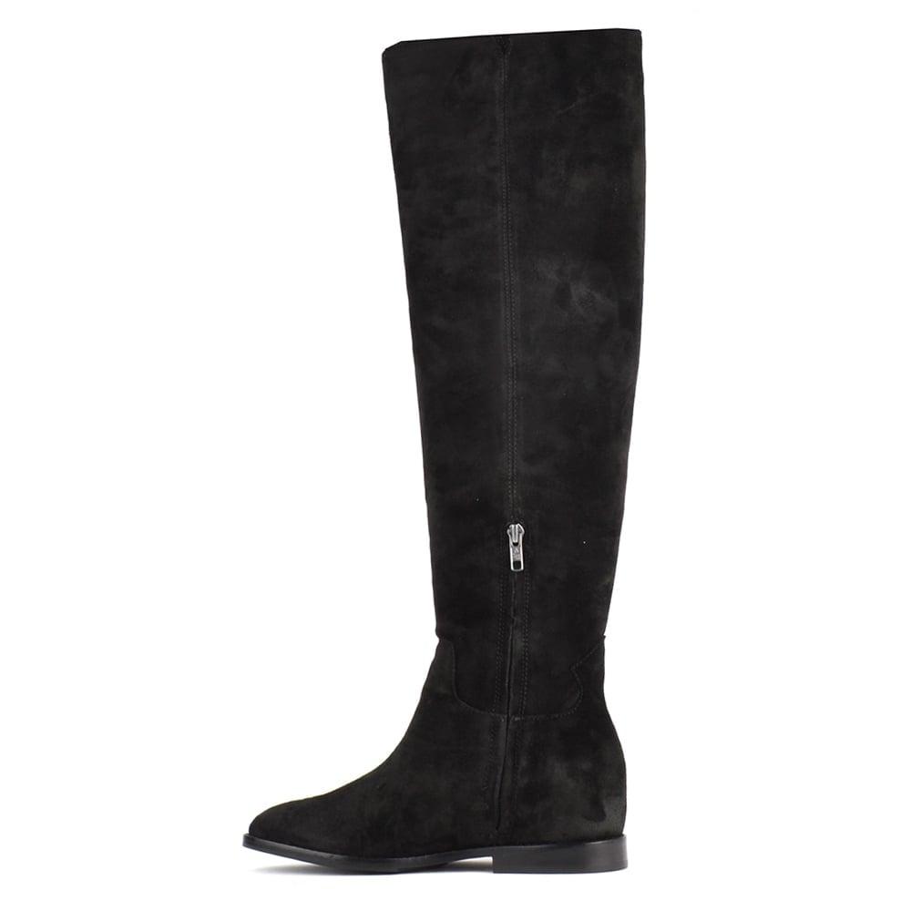 ash footwear jess black suede knee high boot buy now