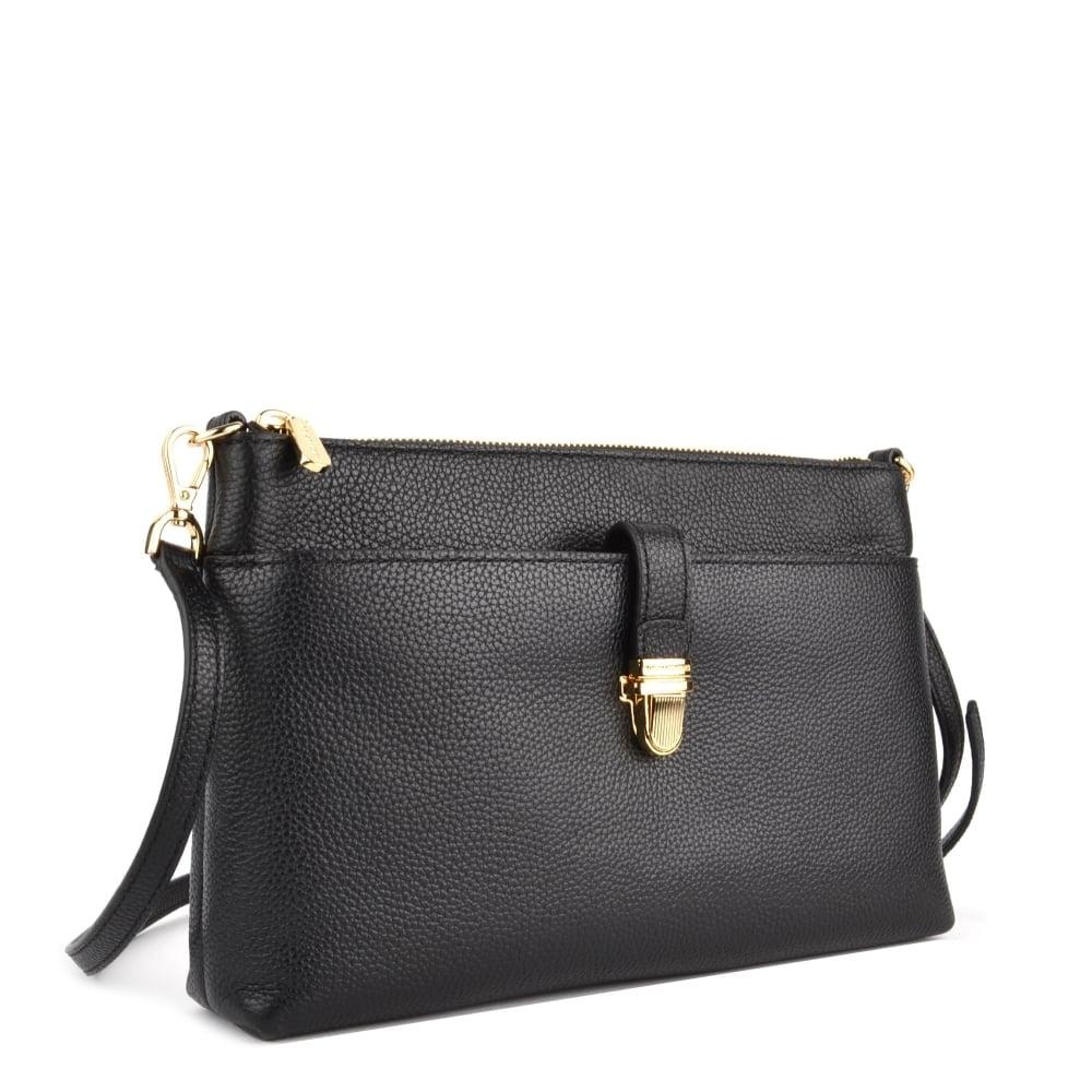 michael michael kors mercer large black pocket crossbody bag. Black Bedroom Furniture Sets. Home Design Ideas