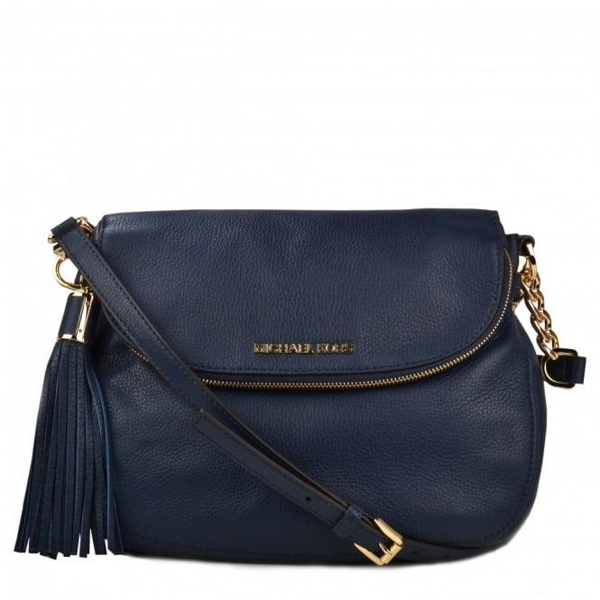 df196493cdab Michael Kors Navy Bag With Tassel. Michael Kors Navy Blue Leather Lg Bedford  Tassel Convertible Purse Cross Body Bag - Tradesy