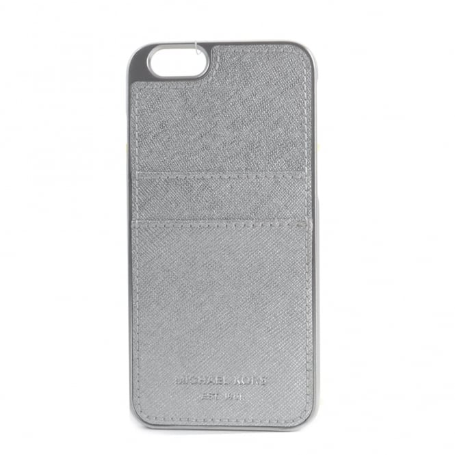 Michael michael kors silver saffiano iphone 6 case for Housse iphone 6 michael kors