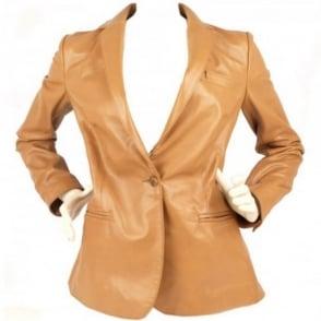 Ash Alyssa camel leather jacket