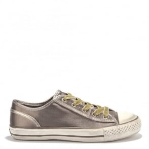 Viper Taupe Satin Vulcanised Trainer