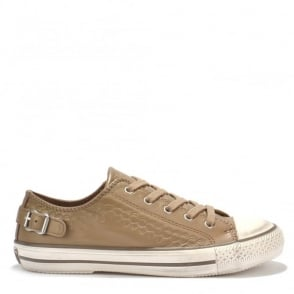 Virgo Taupe Leather Trainer