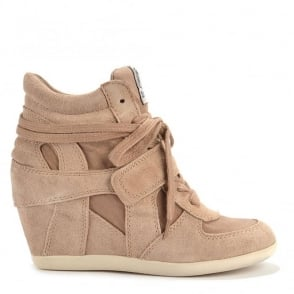 Bowie Chamois Wedge Hi-Top Trainers