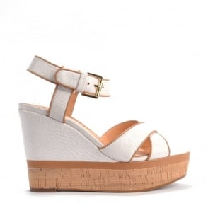 Honey White & Nude Wedge Sandal