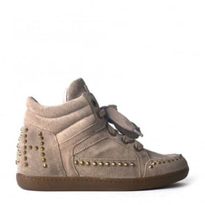 Zest Stone Suede Studded Trainers
