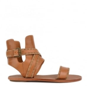 Nil Chamois and Nude Leather Sandals
