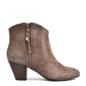 Jess Topo 'Brown' Suede Ankle Boot