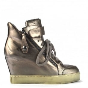 Body Piombo Metallic Hi-Top Wedge Trainers