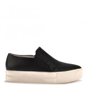 Kurt Black Laser Cut Slip On Trainer