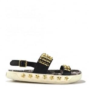 Kai Gold Studded Leather Slingback Sandal