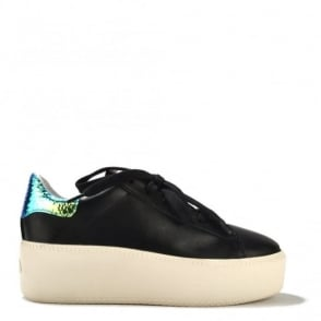 Cult Black Leather Trainer