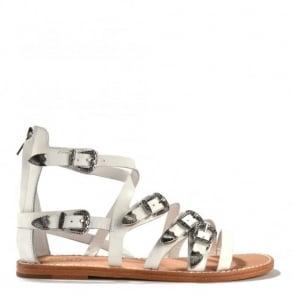 Penelope White Leather Sandal