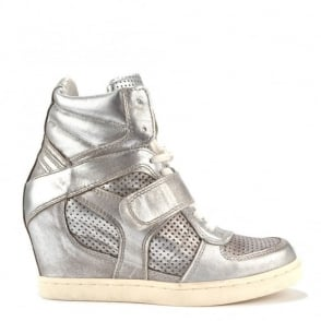 Cool Ter Silver Wedge Hi-Top Trainer