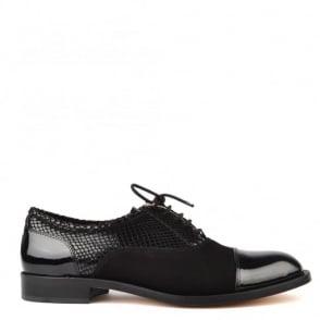 Elia B Shoes Oxford Black Lace Up Brogue