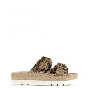 Kanna Doha Python Flatform Espadrille Sandal