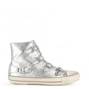 Ash Footwear Virgin Metallic Silver Buckle Trainer