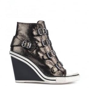 Ash Footwear Thelma Bronze Glitter Wedge Trainer