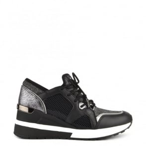 MICHAEL by Michael Kors Scout Black and Silver Trainer