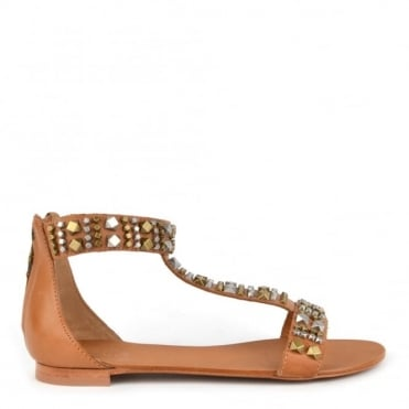 Malika Nude T-Strap Sandal