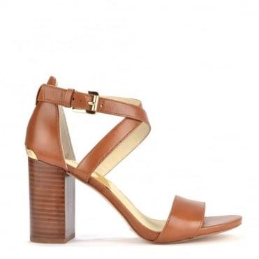 Nadja Tan Cross Strap Sandal