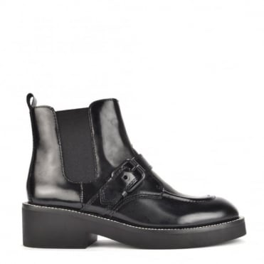 Norton Black Leather Chelsea Boot