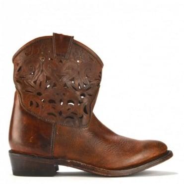 Julian Tobacco Cut-Out Cowboy Boot