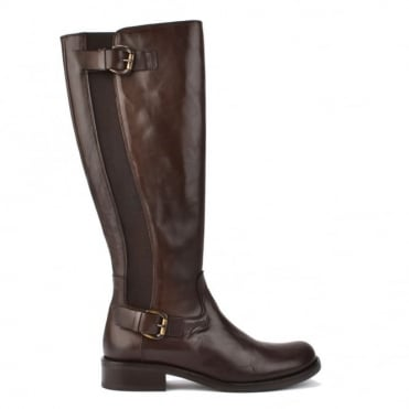 Brown Leather High Boot
