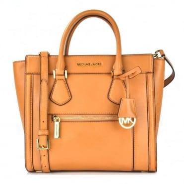 Colette Peanut Leather Satchel