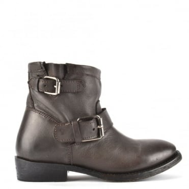 Vegas Fango Leather Ankle Boot