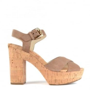 Natalia Dark Khaki Suede Platform Sandal