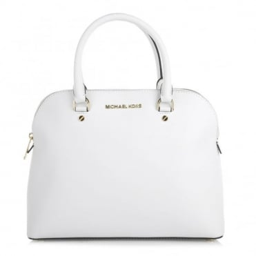 Cindy Dome Large White Tote