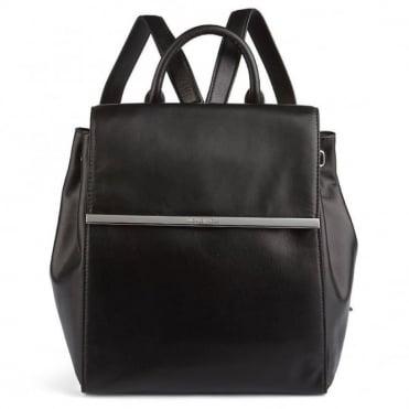 Lana Black Leather Back Pack