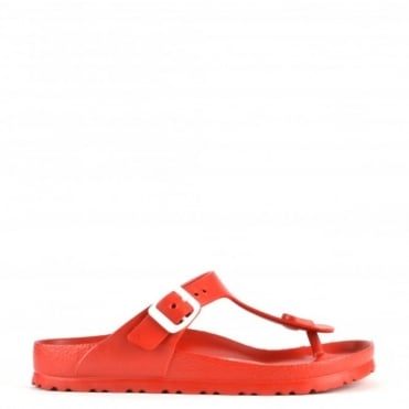 Gizeh Red Rubber Thong Sandal
