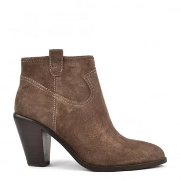 Ivana Chestnut 'Brown' Suede Ankle Boot